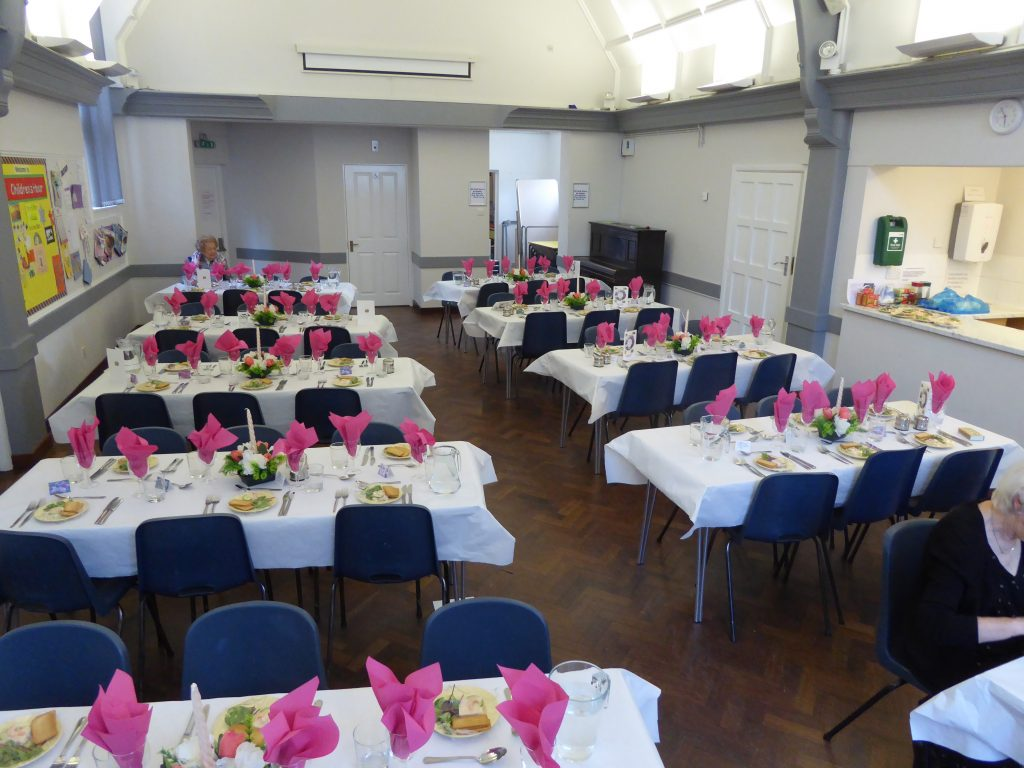 Ewell Hall set out for a dinner